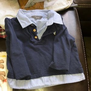 Shirt with sweater attached  9-12 mos